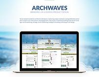 Archwaves - social network | UX UI design