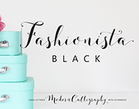 Fashionista Black Hand Lettered Font