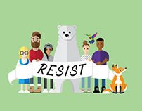 Resist Illustration