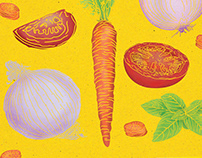 Maggi - Ingredients Illustration