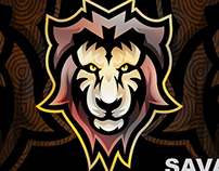 Savage King Mascot logo