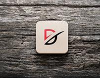 D eye caching logo
