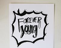 Black on White Typography