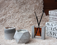 Concrete Collection Candle and Diffuser Series