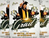 Graduation Sunday Flyer - Club A5 Template