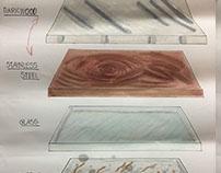Graphic design 1 rendering shelves