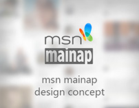 msn mainap - design concept