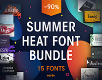 Summer Heat Font Bundle