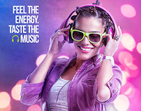 Feel the energy. Taste the music