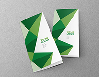 Green Geometric Pattern Trifold