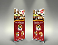 Indian Restaurant Signage Banner Roll Up Template Vol.2