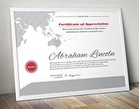 Unique Certificate Templet