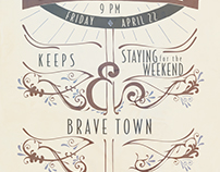 Brave Town Gig Poster