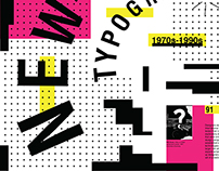 New Wave Typography Poster