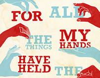 My Hands Music Lyric Poster for Andrew McMahon