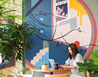 WeWork_Office Artworks Beijing Sony Wangjing