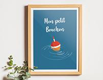"""""""Mon petit Bouchon"""" illustration poétique et apaisante"""