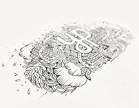 Wall doodle mockup