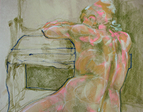 Life Drawing in Studio 2015