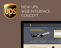 UPS Web Interface Re-Design Concept