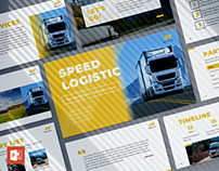 Trucking Logistics PowerPoint Presentation Template