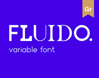 FLUIDO. variable font and website / MA Diploma