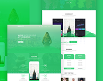 Bro App Redesign Landing Page | Personal Project