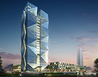 Rendering works for Office building