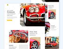 Classic ferrari festival landing page design