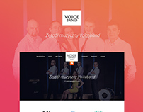 Voice Band webpage layout