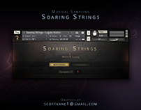 MS Soaring Strings Kontakt Library Gui Design