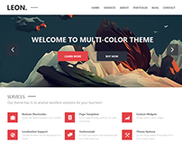 Leon: MultiColor WordPress Theme