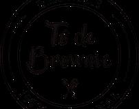 Identidade visual e embalagem TÔ DE BROWNIE