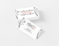Calligraphy Minimalist Professional Business Card