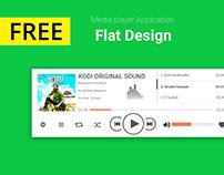 Media Player Design FREE PSD
