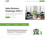Landing Page Design App Development Company website