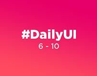 DailyUI 6-10