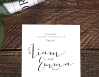 Liam & Emma – Wedding Invitation
