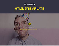 Yellow Moon - HTML landing page