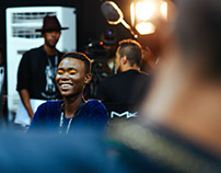 Backstage at Mercedes Benz Fashion Week Joburg