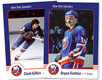Gillies & Trottier Hockey Cards