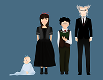 Ilustração - Personagens de Desventuras em Série