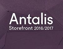 Antalis Storefront paper sculpture