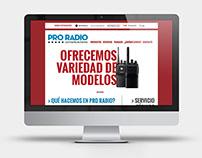 Identidad + sitio web - ProRadio Comunicaciones