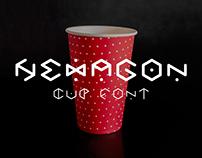 HEXAGON cup font