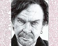 "Ballpoint pen drawings for exhibition ""A4 ballpointpen"""