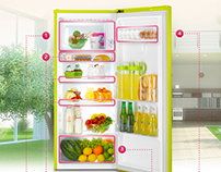 LG 꼬망스 냉장고 USP