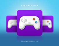 Free Game App Icon PSD