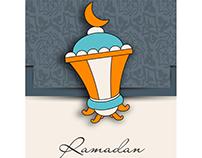 Vector Arabic Lamp Ramadan Kareem