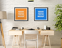 Square Poster Mock-Up
